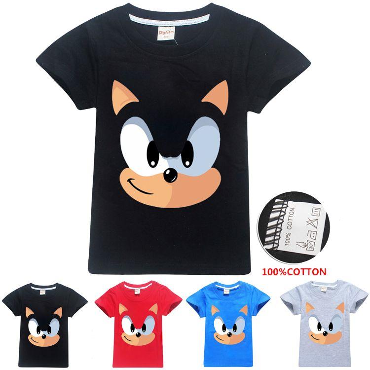 Sonic The Hedgehog bambini stampati T-shirt 4 colori 3-12 t ragazzi ragazze 100% cotone tees t shirt bambini vestiti firmati SS311