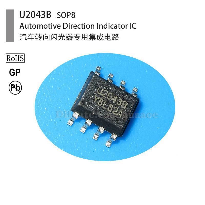 indicador de dirección del automóvil intermitente Circuito integrado IC, U2043B, U2043, SOP8