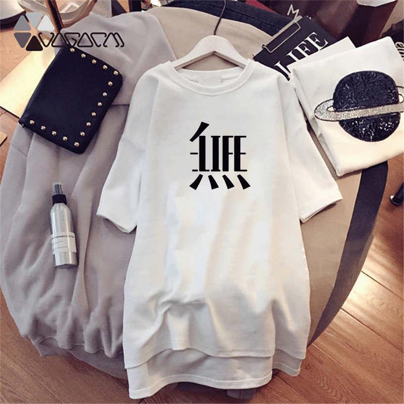 Mulheres Designer Vestidos Estilo Moda Verão Marca manga curta Impresso camisas longas Luxo Tops Lady Dress Casual Shirts C007