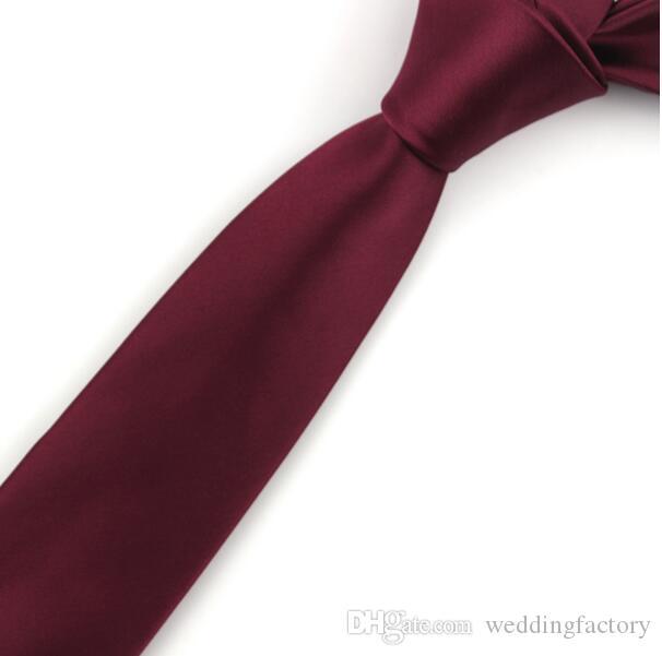 Shlax/&Wing Tinta unita Rosso Borgogna Wedding cravatte Per gli Uomini Classici Cravatte Moda 63 57,5