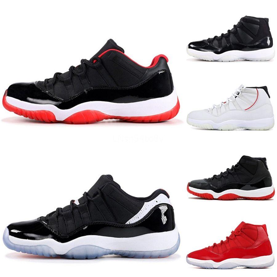 Jumpman 11 Erkek Erkek Basketbol Ayakkabı 11S Erkek Eğitmenler Düşük Kalite WMNS Concord Bloodline Bred Burun Nrg Birliği Erkek Spor Ayakkabıları Sneake # 805