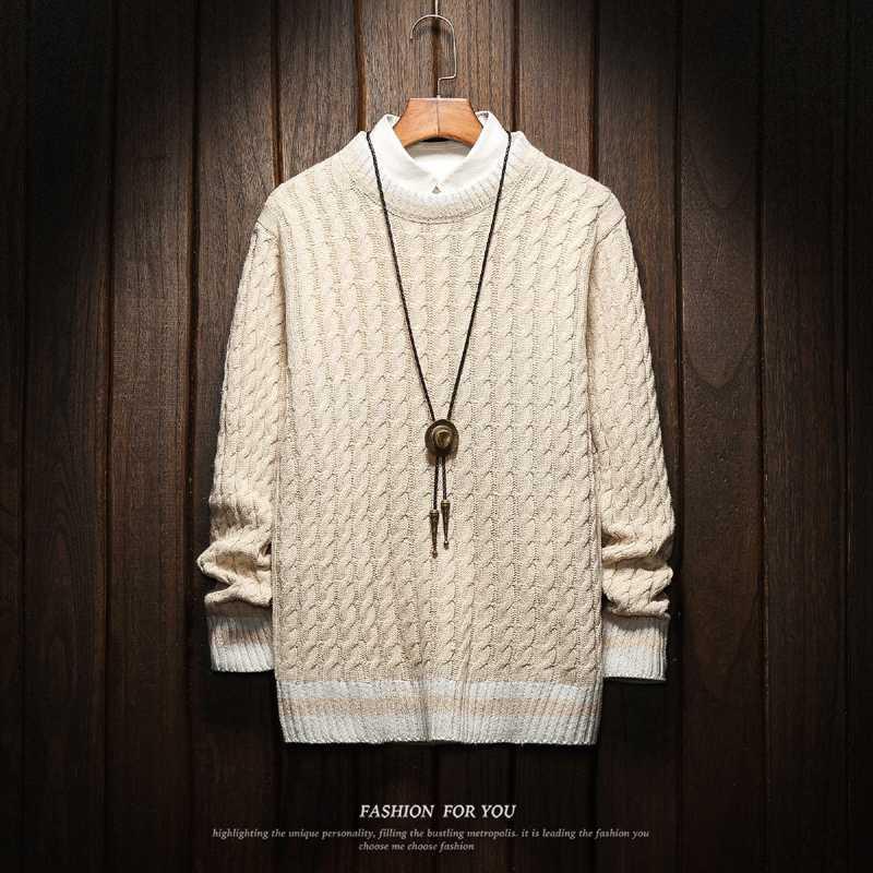 Navidad de los hombres suéteres de ropa de invierno 2020 más el tamaño de Asia M-4XL 5XL 6XL Japón estilo casual con capucha estándar