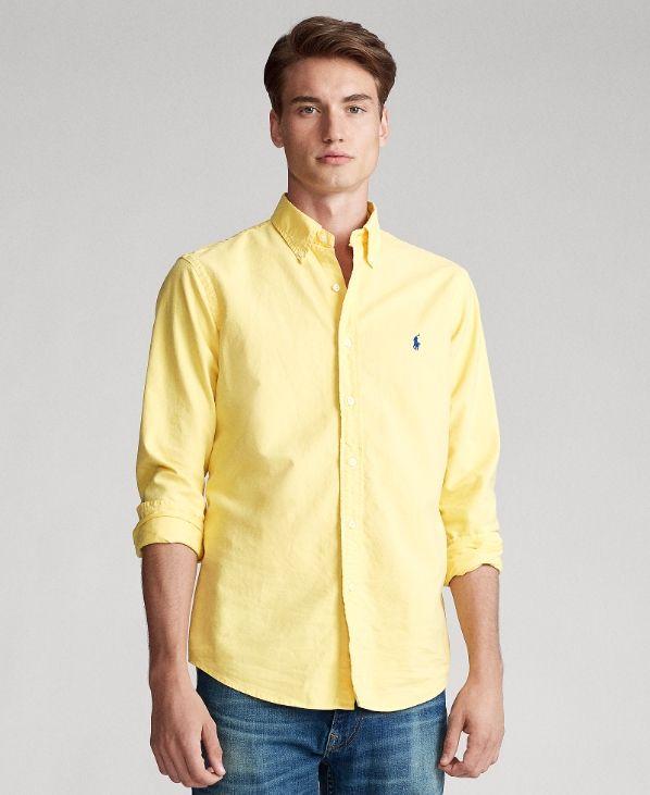 shirts Casual Top RL RACING polo degli uomini di qualità # 001 Stilista US manica lunga di marca di lusso casuale Camicia MEDUSA MASCHERA