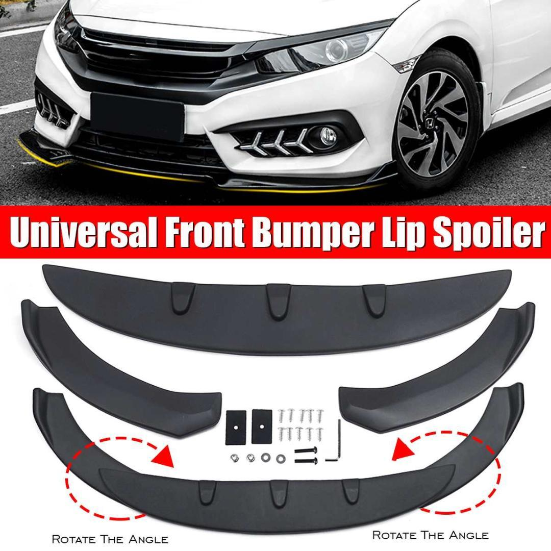 2020 1 3p Black Universal Car Protector Front Lip Bumper Splitter Diffuser Protection Fins Body Spoiler Kit For For From Niumou 50 77 Dhgate Com