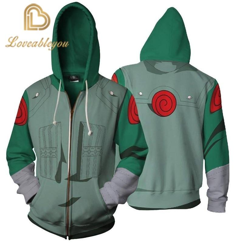 Naruto Cosplay Hoodie Sweatshirt Anime Hooded Jacket Coat Clothing for Adult Unisex Autumn Winter Costume Clothes
