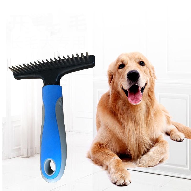 Pet Open Knot Comb Teddy Golden Retriever Samoyed Long Hair Medium Large Dog Comb To Die Hair Dogs Brush Pet Hair