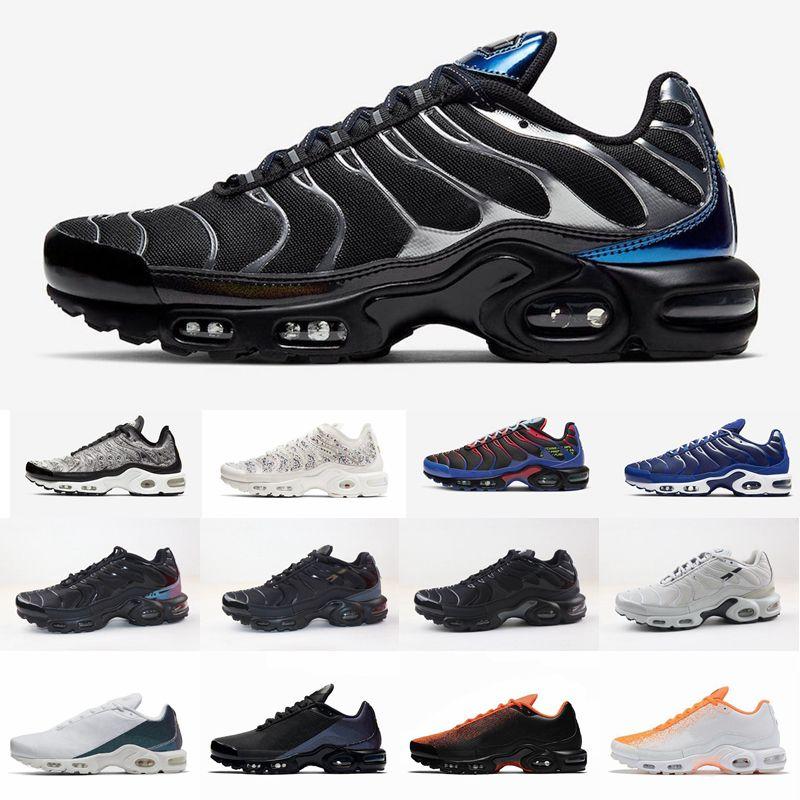 2020 New Tn plus GS formateurs Greedy S'OG triple Chaussures de course blanc noir pour hommes des Chaussures Tns Bleu Fury Sport Sneakers Taille 40-46