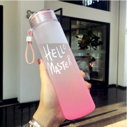 New Glass Water Bottles For Water Sport 400ml Portable Rope Kids Drinkware Outdoor Leak Proof Seal Gourde Climbing Water Bottles