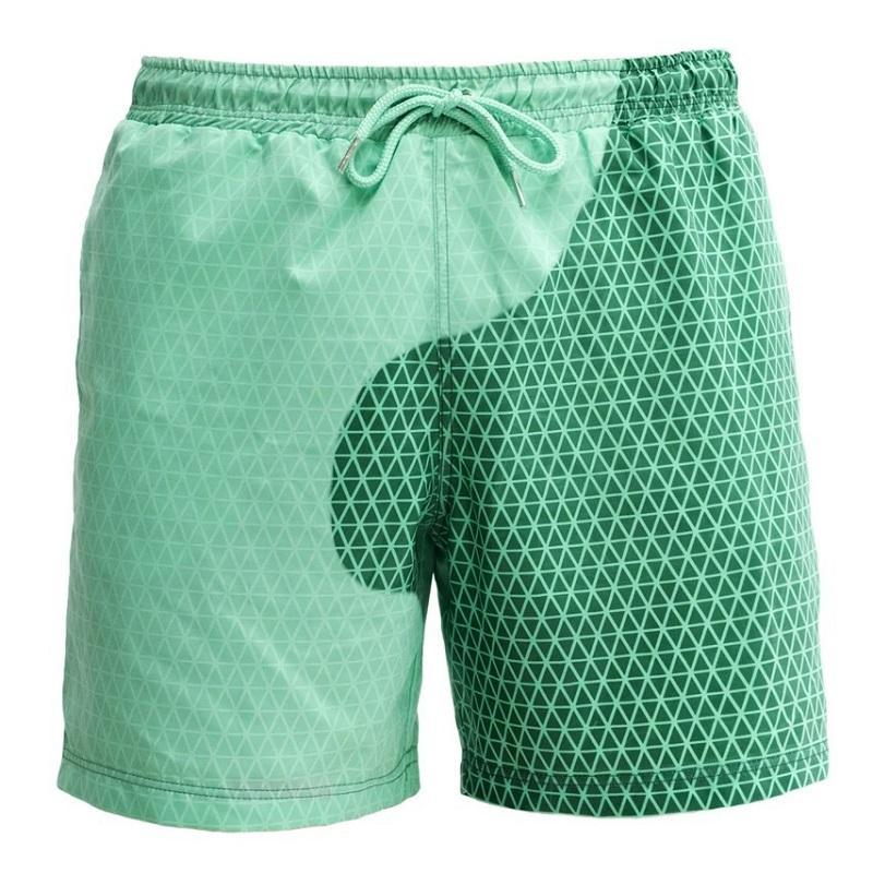 Nouveau design Hommes d'été Décoloration magique Trunks Natation Changer la couleur de plage Shorts Quick Dry Tie Dye Pantalons courts de bain