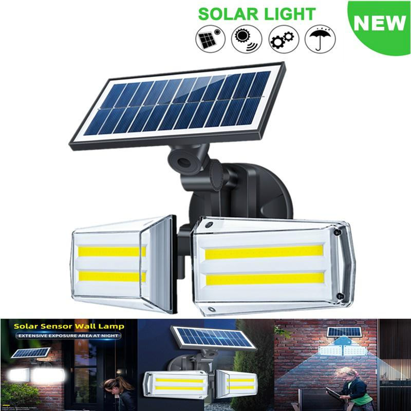 2020 New Outdoor Solar Lamp Motion Sensor IP65 Waterproof Street Lamp for Garden Decoration Solar Microwave infrared Sensor Wall Light