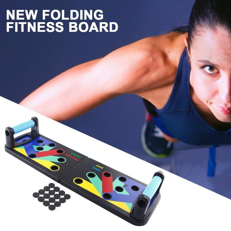 Foldable Body Building Push Up Rack Board Fitness Comprehensive Exercise Push-up Stands For GYM Body Training
