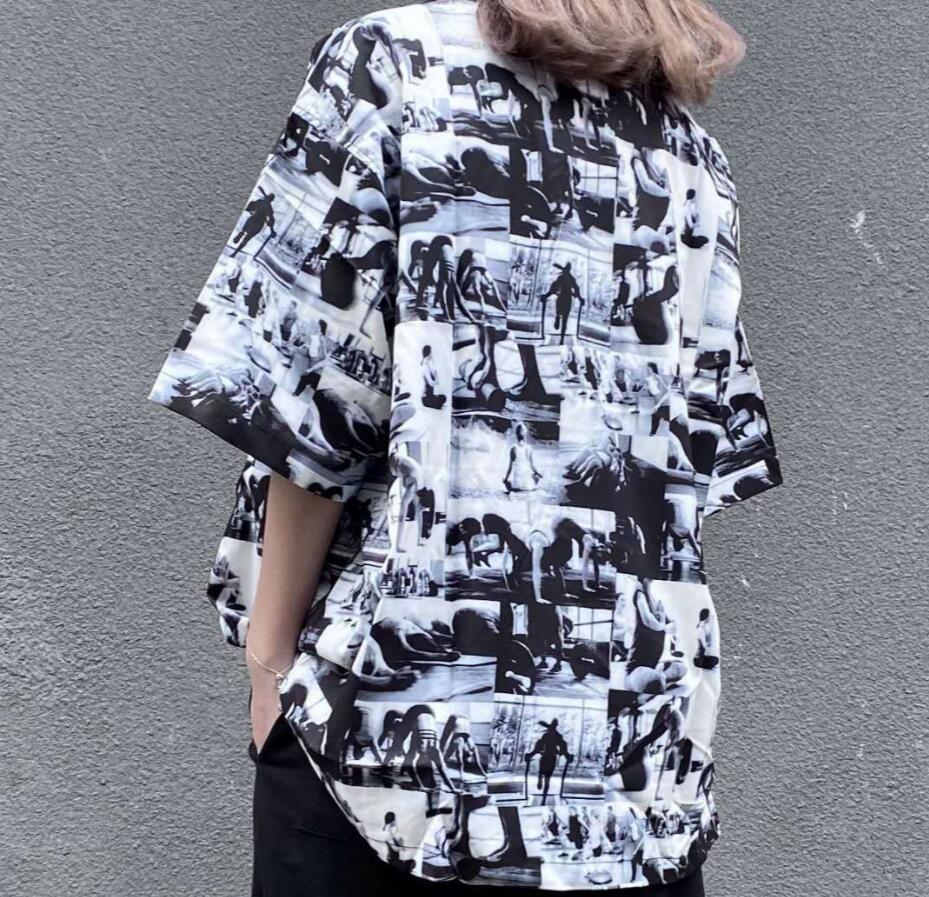 حار بيع اليوغا إلهة وحة زيتية الطباعة قصيرة الأكمام رجال قميص المرأة الصيف عارضة الزوجين شارع سكيت T-shirt أعلى جودة
