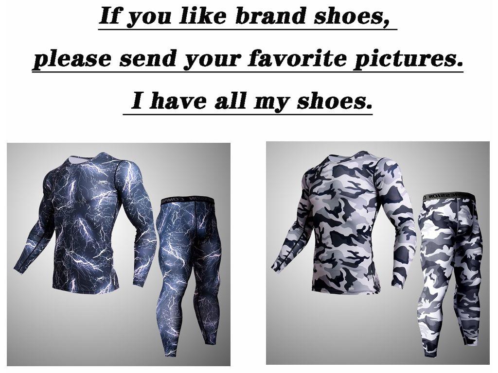 2019 men's tight set MMA rashgard tactics leggings camouflage fitness warm underwear crossfit compression clothing Brands men