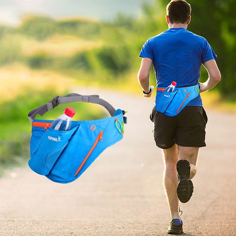 Marathon Running Bag With Water Bottle Holder Outdoor Sports Belt Portable Waist Pack Men Women Fitness Fanny Mobile Phone Cases