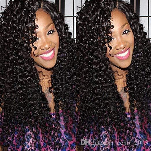 360 Lace Frontal Perücke Afro verworrene lockige 100% Echthaar volle Perücke 150% Dichte für schwarze Frauen