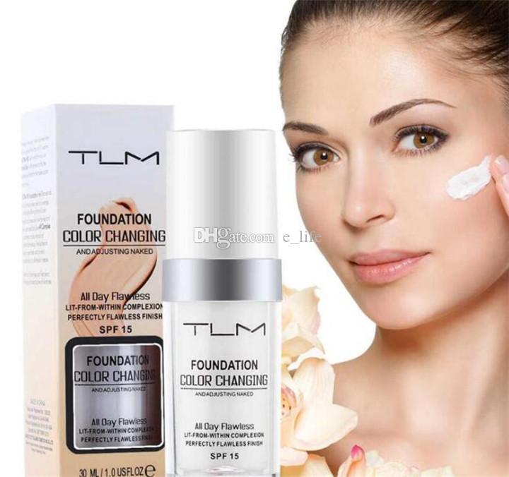 Moonbiffy 30мл TLM Безупречная изменяющая цвет жидкая основа для макияжа Изменение оттенка кожи путем смешивания