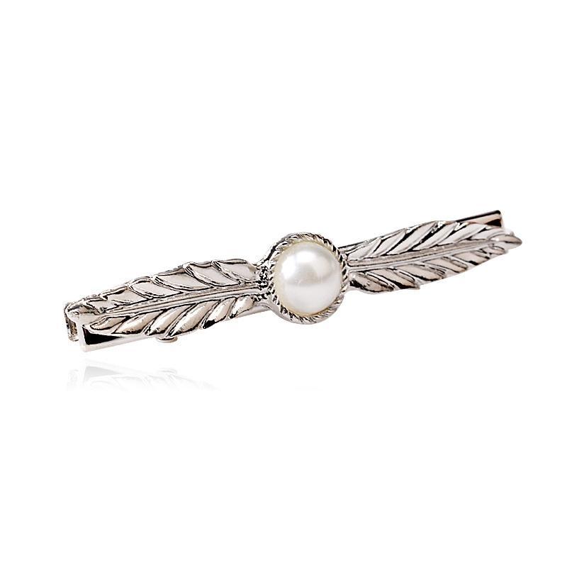 M Mism Frauen Hochzeit Gold / Splitter Perle Haarnadel Bijouterie Mädchen Blatt Hairgrips Headwear Haarnadeln Ornament Zubehör Haarspange
