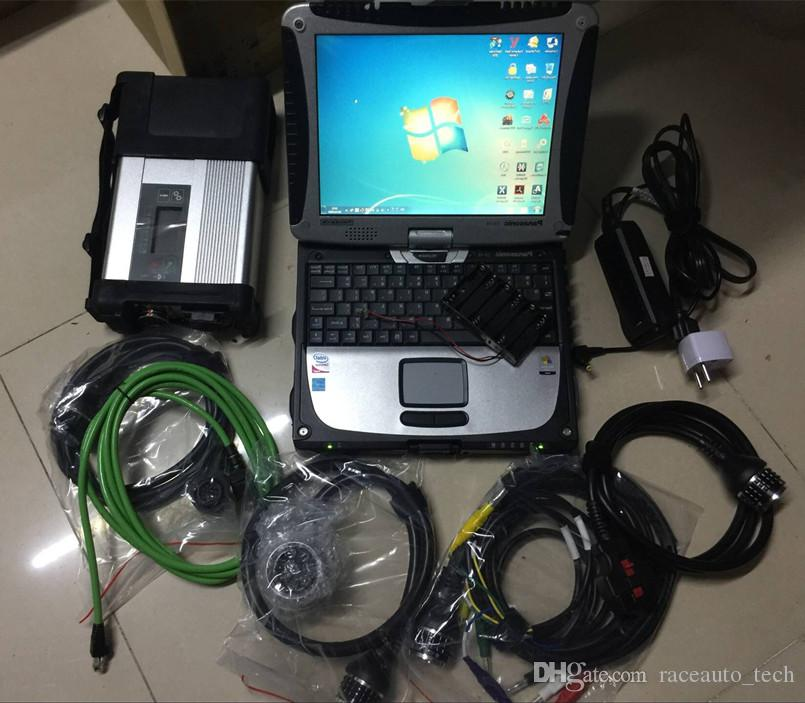진단 도구 스캐너 MB 스타 C5 CF19 노트북 터치 스크린 소프트웨어 320GB HDD 전체 설정 준비