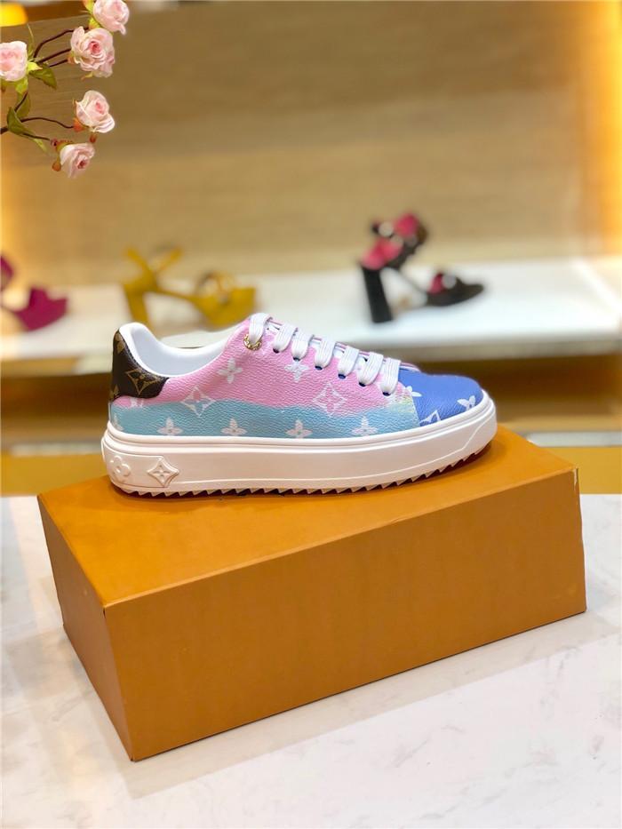 Les nouvelles femmes ESCALE TIME OUT chausse designer de luxe 1A7ULR baskets chaussures épais de synchronisation exclusive TAILLE 35-40