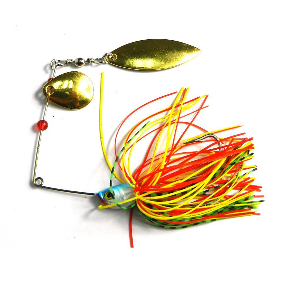 Hengjia 50pcs 19.8g / 0,7 once filatore esca esca pesca cucchiai Shallow acqua dolce Acqua Bass glaucomi ciprinidi Spinnerbait ARTIFICIALI