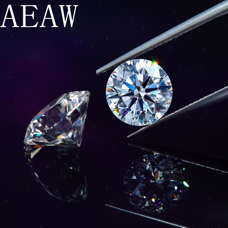 جولة بريليانت قص 1.5 قيراط 7.5 مم د لون مويسانيتي حجر فضفاض شهادة VS1 ممتاز قطع اختبار الصف مختبر إيجابي الماس