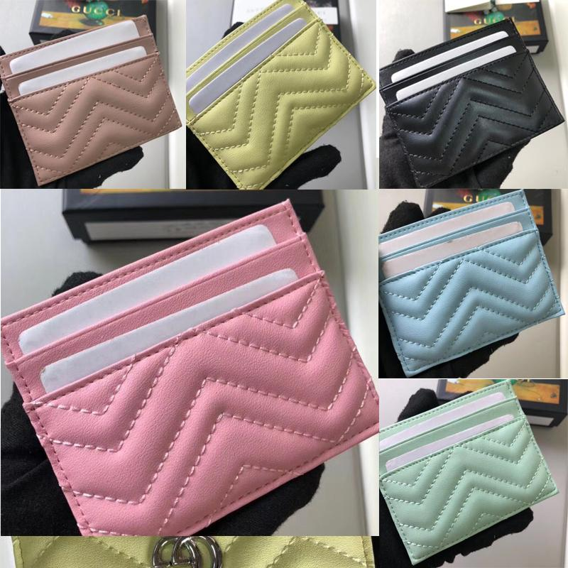 443127p80 Top quality 2020 new fashion Card Holders woman wallet pure color genuine leather classic mini wallet free ship noble