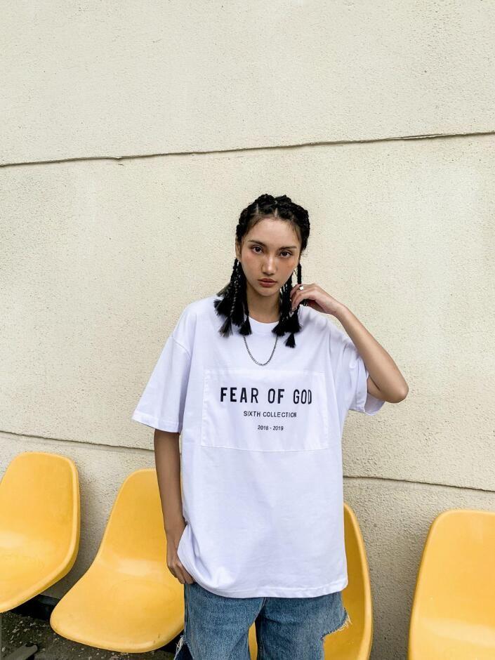 FOG Gottesfurcht 6. Sammlung T Hip Hop Einfache Straße Skateboard T-Shirt Sommer-Männer Frauen beiläufige Art und Weise mit kurzen Ärmeln T