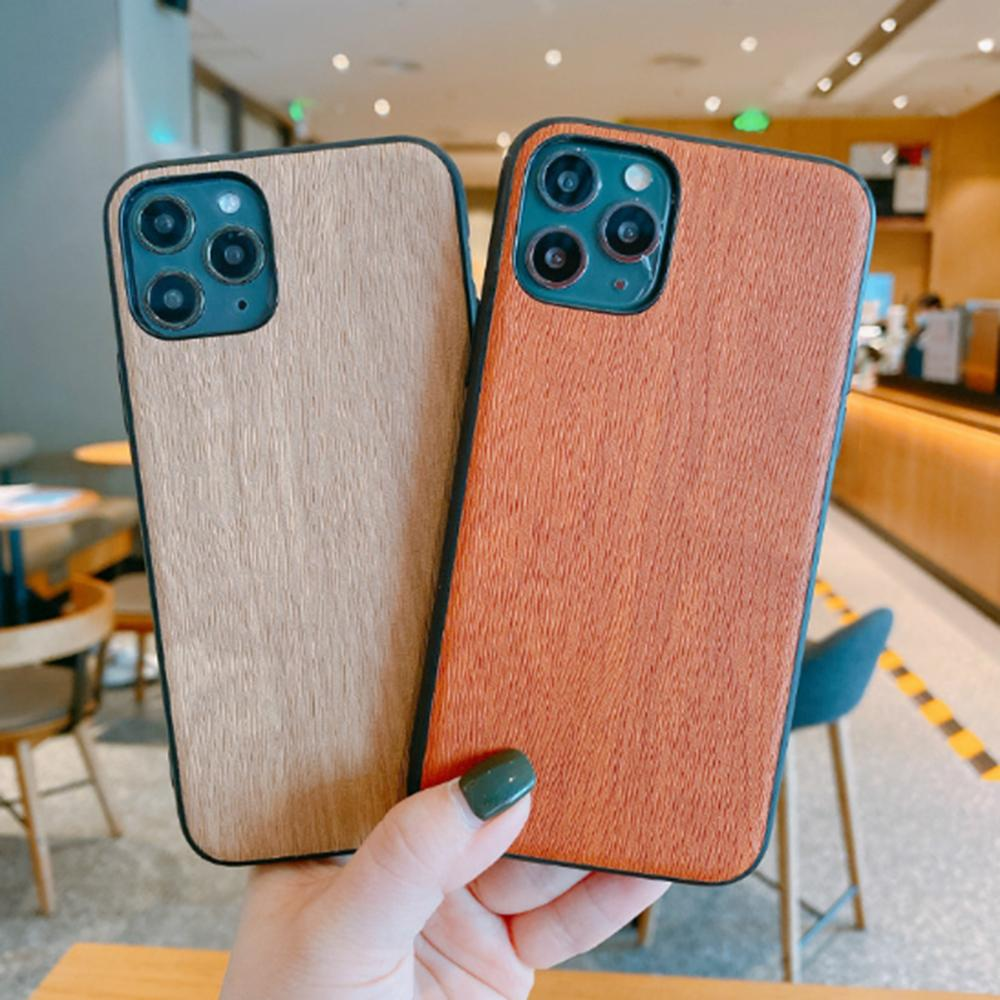 نمط خشبي بسيط لينة الغلاف TPU لابل اي فون برو 11 X XR XS ماكس 8 7 6 6S زائد الخشب نمط الهاتف القضية كوكه