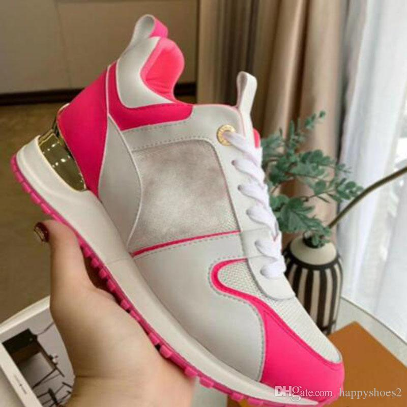 NOVO Causal sapatos de mulher Homem Sapatilhas de couro malha mista cores instrutor Runner Shoes Unissex Tamanho US 4-11 E99