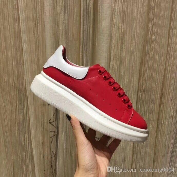 Marke echte Leder-Trainer der Männer Laufende Frauen Designer-Turnschuhe der beiläufigen Breathable Schuhe Farbe xrx19041404 mischte