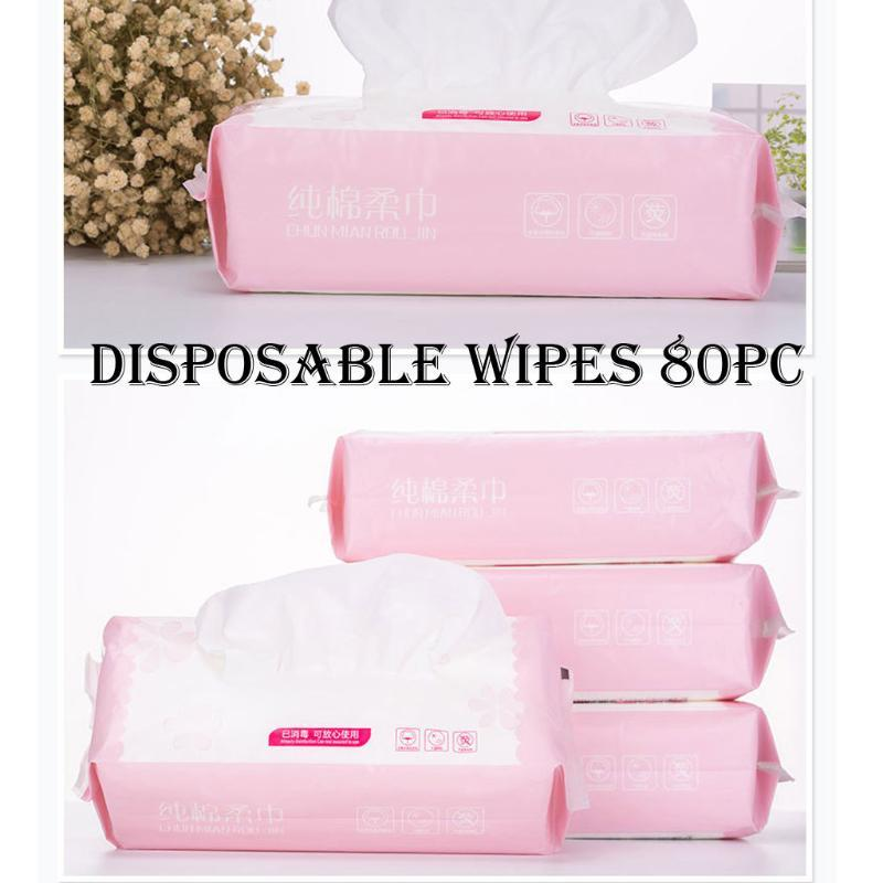 2020 New 80 Sheets Disposable Washcloth Disposable Face Soft Towel Cotton Facial Cleansing Makeup Remover Towel Tissue Z0331