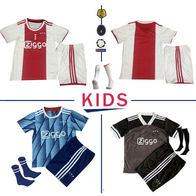 Ajax ENFANTS Jersey 2021 Accueil Red Soccer Jersey ENFANTS 20 21 TADIC VAN DE BEEK ZIYEC NERES AJAX de pied HUNTELAAR MAILLOT ADULTE Football Shirt