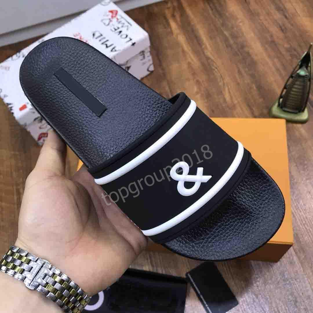 Frauen der Männer Sommer-Sandelholz-Strand-Slide Hauspantoffeln vollkommene Qualität König Crown Designer Italien Luxus-Druck Slipper Weiß Schwarz mit dem Kasten