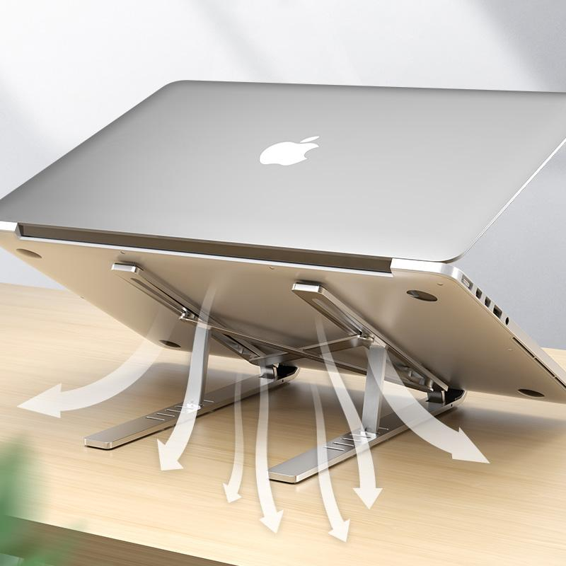MacBook Air Pro Notebook Katlanabilir Alüminyum Alaşım Laptop Dizüstü Tutucu PC Notebook için Parantez Laptop Tutucu Stand