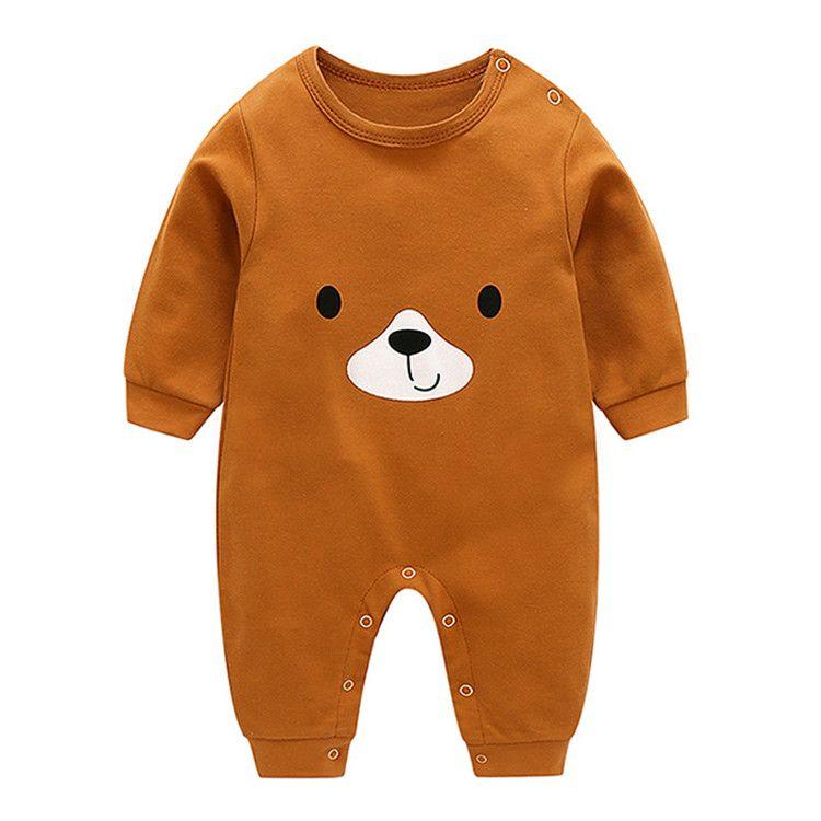 Primavera e autunno Cute Baby Infant i pagliaccetti delle ragazze dei ragazzi a maniche lunghe del fumetto del O-collo vestiti lavorati a maglia tuta sottile del bambino