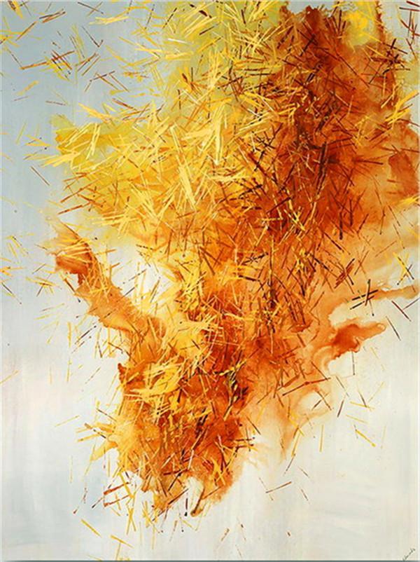 ZYXIAO impresión de la pintura de aceite de color amarillo abstracto arte de la lona del cartel Profesional No Frame cuadro de la pared de la sala de estar Sofá Decoración YH0107