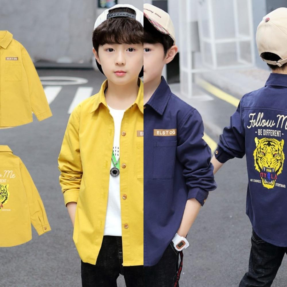 2020 vêtements pour hommes de grande et moyenne taille de la mode de dessin animé pour enfants manches longues automne chemise chemise beau