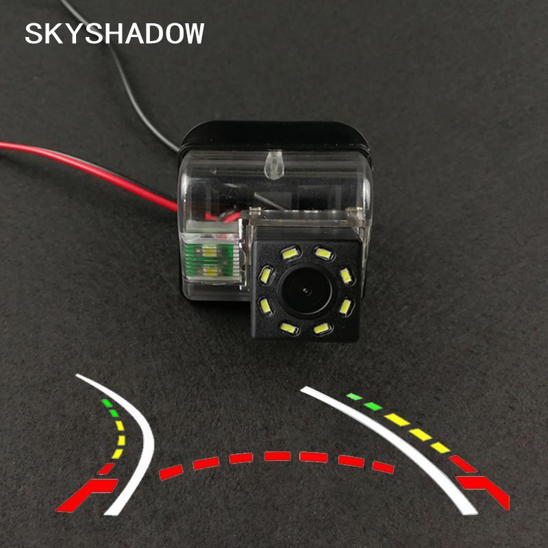 HD senza fili dell'automobile del CCD della telecamera posteriore Fisheye 4 8 12 LED dinamica di visione notturna per 6 CX-5 CX-7 CX-9 2009 2010 2011 2012