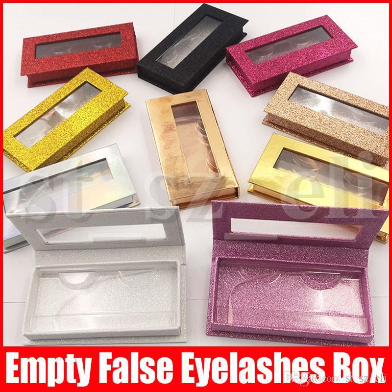Magnetic Eyelash Packaging Box Fake 3D Mink Eyelashes Boxes Magnetic Case Lashes Empty Box