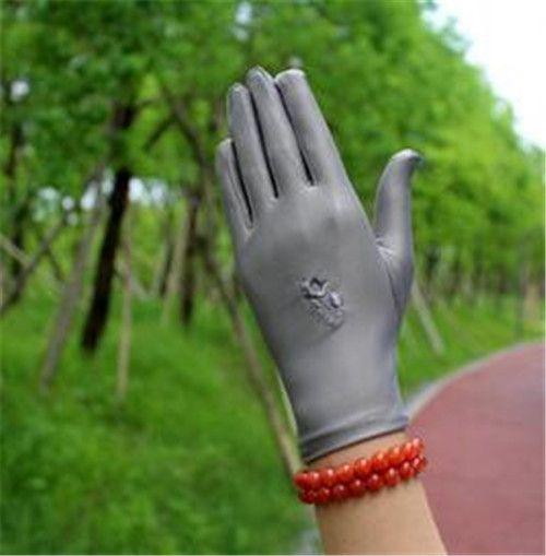 Fashion-2pcs = 1pair Eleganter gestickter Spandex-Handschuh-Frühlings-Sommer-elastischer dünner Etikette-Schmuck-Handschuh-Square Dance White