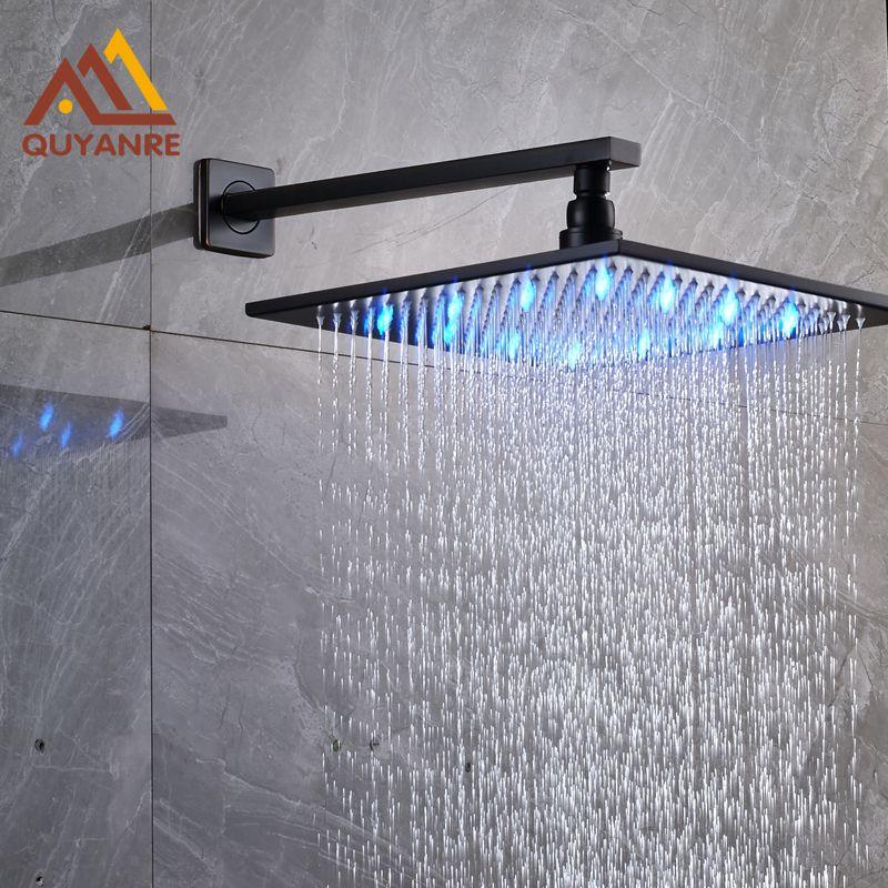 Oil Rubbed Bronze  16-inch Square Rain Shower Head Top Over Shower Head Sprayer