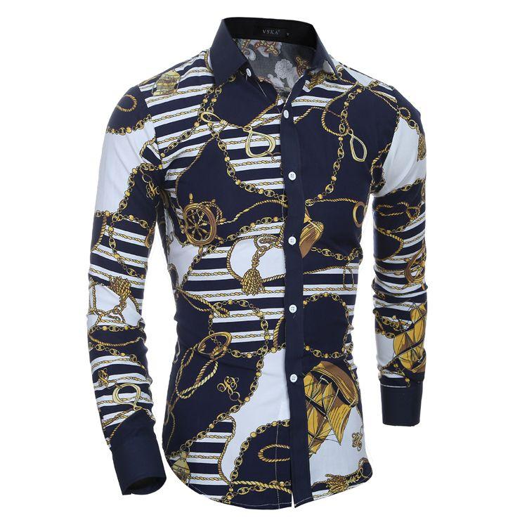 남자 꽃 셔츠 새로운 가을 3D 인쇄 패션 캐주얼 슬림 맞는 하와이 드레스 셔츠 Camisa Masculina Chemise Homme