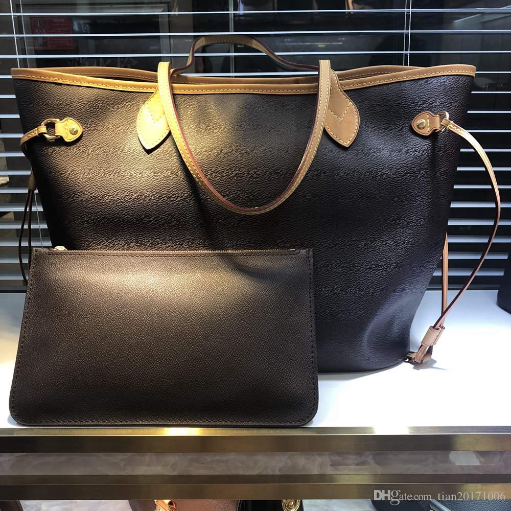 Top Calidad Classic Women Handbag Damas Bolsa de composición de Lady Clutch Bolso Hombro Tote Femenino Monedero Cartera 2pcs / Set High Qulity Envío gratis