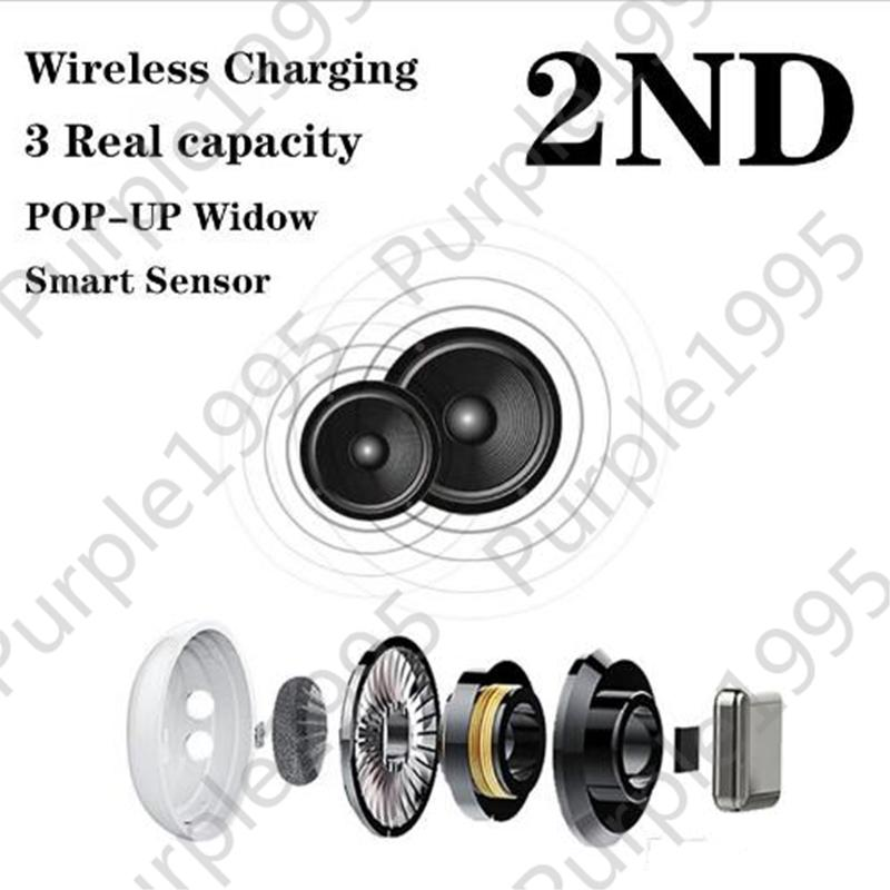 Gen 2 Popup Supercloned H1 Chip Bluetooth Double Earphone For Pods2 Headset Touch Voice Control Sensor gps Change Bluetooth name