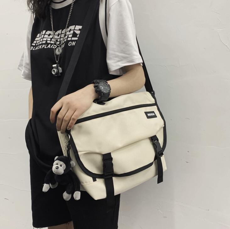 Мода Человек плеча сумки Большие емкости Женщины Судоходные Сумки Пары Креста тела холщовый мешок Hip Hop сумки