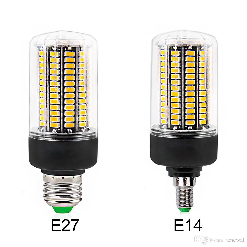 DHL LED E27 Ampoule LED E14 SMD5736 AC 110V-220V LED maïs léger 12W 15W 20W Pas Flicker pour Living Room Ampoule