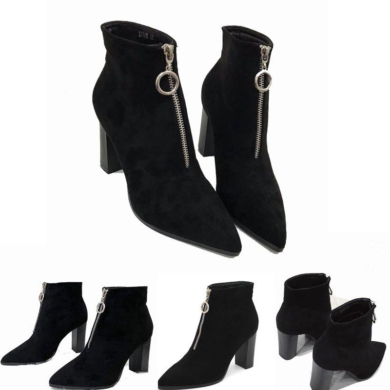 2019 أستراليا النساء أحذية الثلج 100٪ اصلية جلد البقر الكعوب العالية الشتاء الكاحل الأحذية الدافئة أحذية المرأة الحذاء كبيرة الحجم 35-39