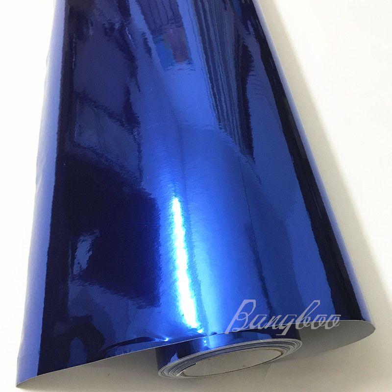 1.52x18 м / рулон с высокой эластичностью глянцевое хромированное зеркало автомобиля наклейки для упаковки фольги виниловая пленка обертывание