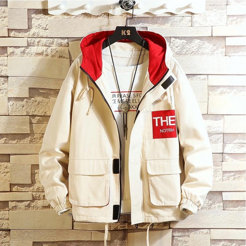 봄 가을 재킷 남성 폭격기 재킷 남성 패션 야구 힙합 스트리트 느슨한 코트 브랜드 멀티 포켓 후드 의류