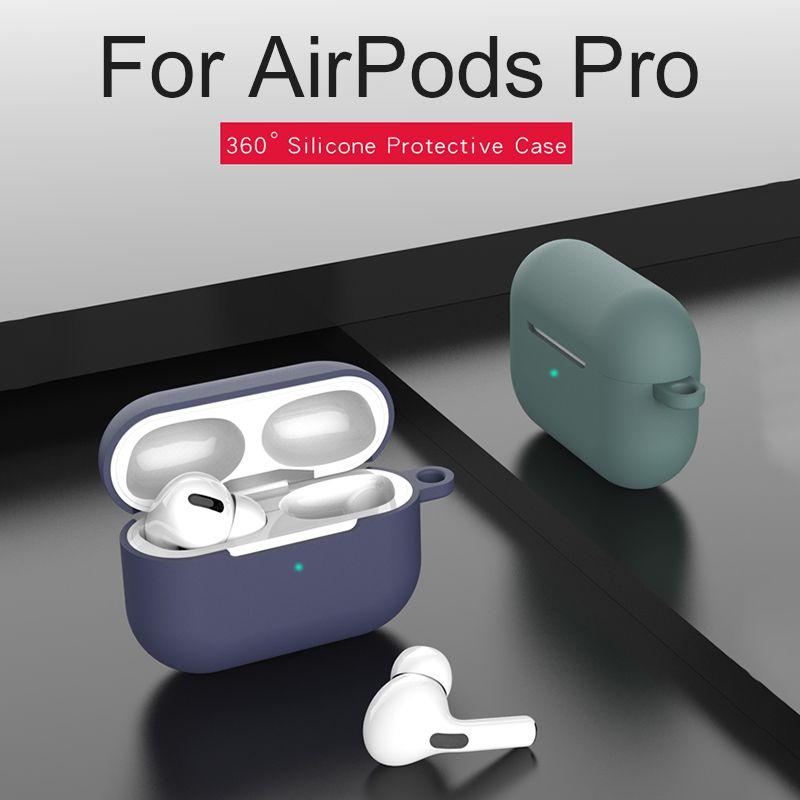Силиконовый чехол для Airpods Pro Case Wireless Bluetooth наушники для airpod про Случаи крышки airpodspro для воздуха стручки 3 Зеленый